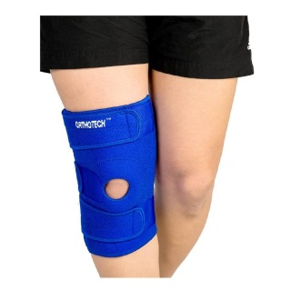 Orthotech Open Patella Knee Support with Stays (OR2131),  Blue  XL
