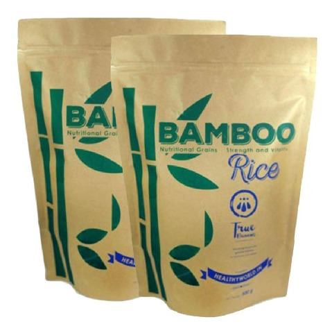 True Elements Nutritional Grains - Bamboo Rice - Pack of 2, Unflavoured 0.500 kg