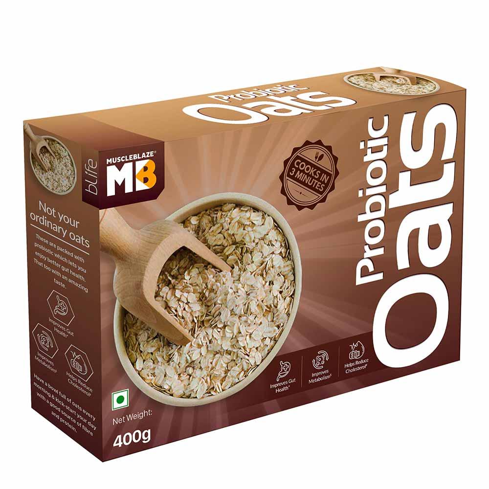 2 - MuscleBlaze Probiotic Oats,  400 g