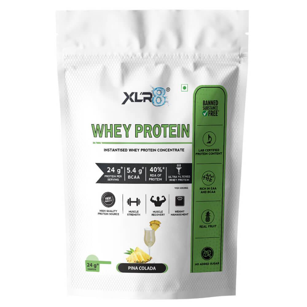 1 - XLR8 Flavoured Whey Protein 24 g Protein,  2 lb  Pina Colada