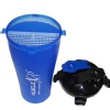 MuscleXP Pre & Post Workout Shaker Bottle,  Design 5 Blue & Black  500 ml