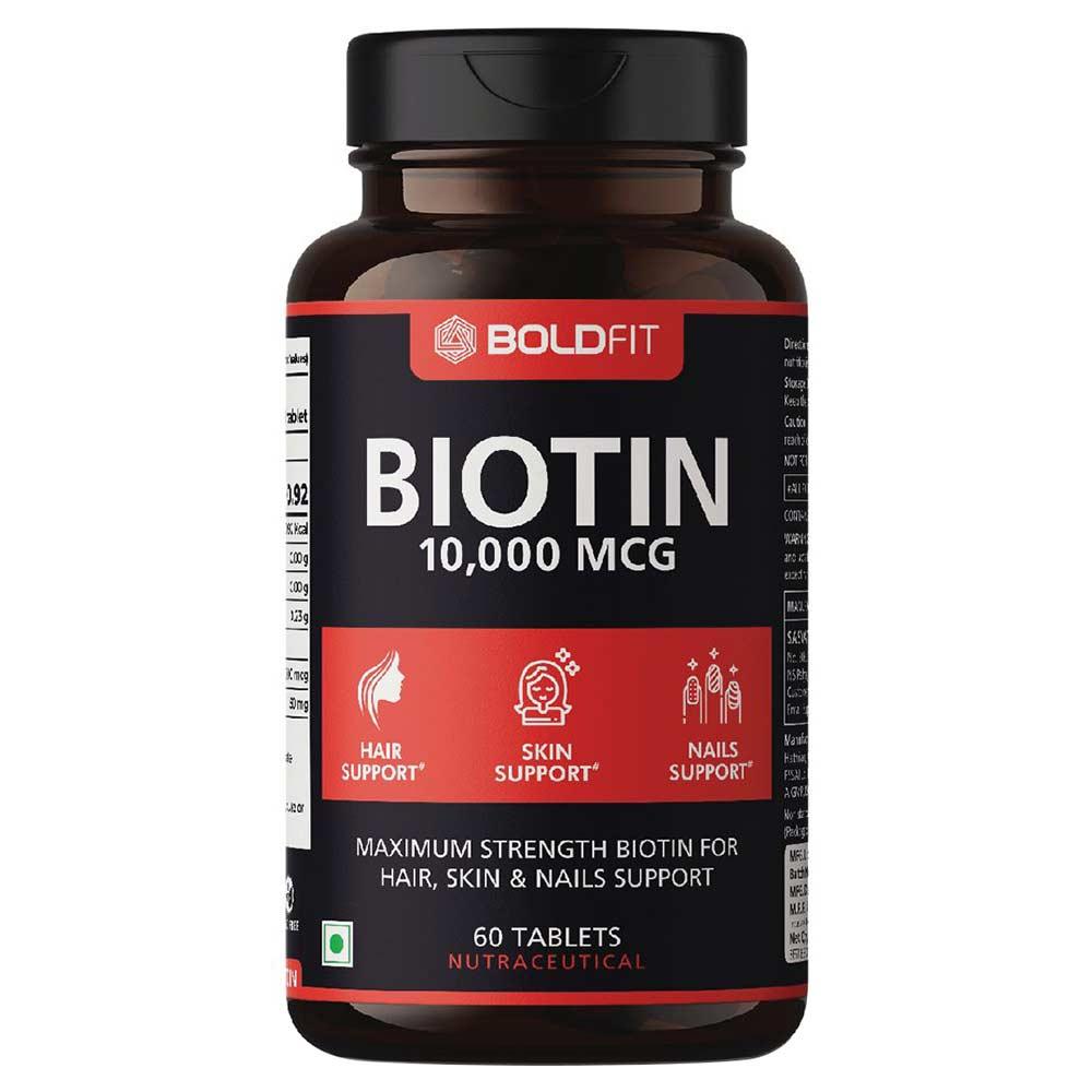 1 - Boldfit Biotin 10000 mcg,  60 tablet(s)  Unflavoured