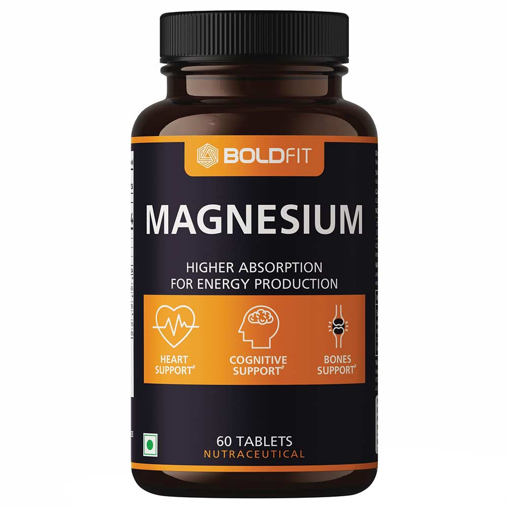 1 - Boldfit Magnesium,  Unflavoured  60 tablet(s)