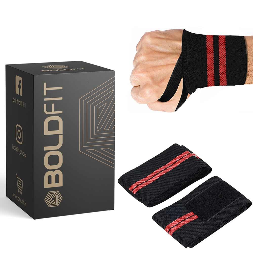 1 - Boldfit Wrist Band,  Black  Free Size