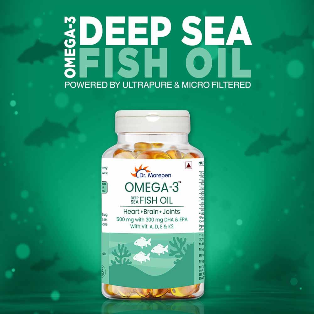 2 - Dr. Morepen Omega-3 Deep Sea Fish Oil,  60 softgels