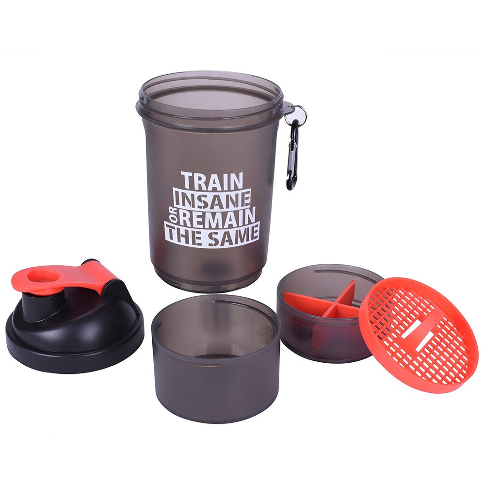 3 - GHC 3-Compartment Shaker Bottle,  Red  600 ml