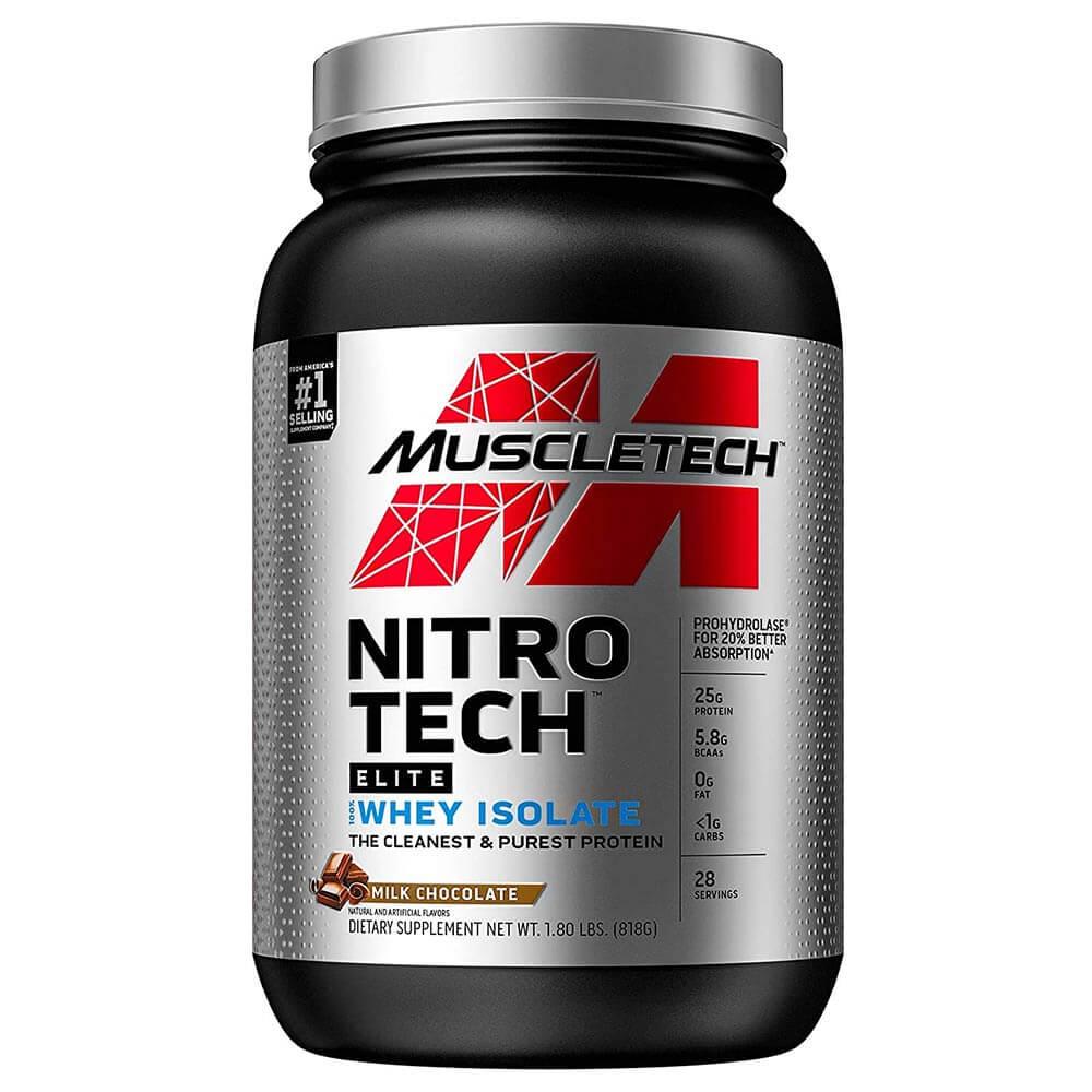 1 - MuscleTech Nitro Tech Elite 100% Whey Isolate,  1.8 lb  Milk Chocolate
