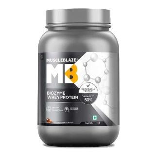 1 - MuscleBlaze Biozyme Whey Protein OP,  2.2 lb  Ice Cream Chocolate