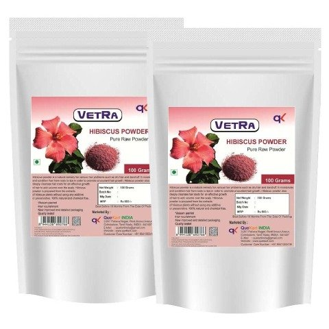 Vetra Hibiscus Powder - Pack of 2 0.1 kg Unflavoured