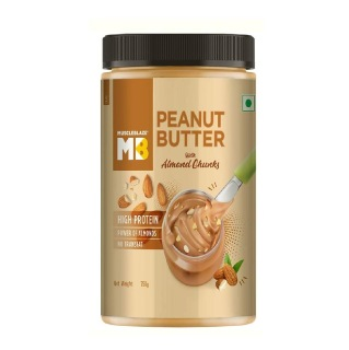 1 - MuscleBlaze Peanut Butter with Almond Chunks,  0.750 kg  Unflavoured