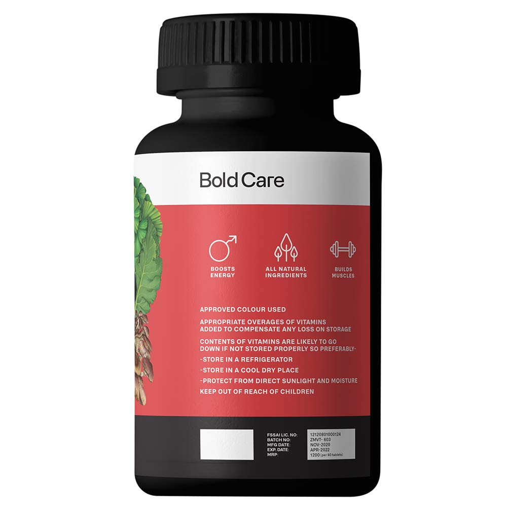benefits - Bold Care Alpha All Natural Testo Booster,  60 tablet(s)