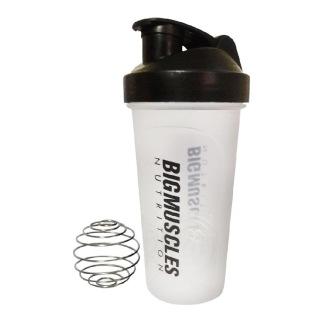 Big Muscles Shaker,  White & Black  600 ml
