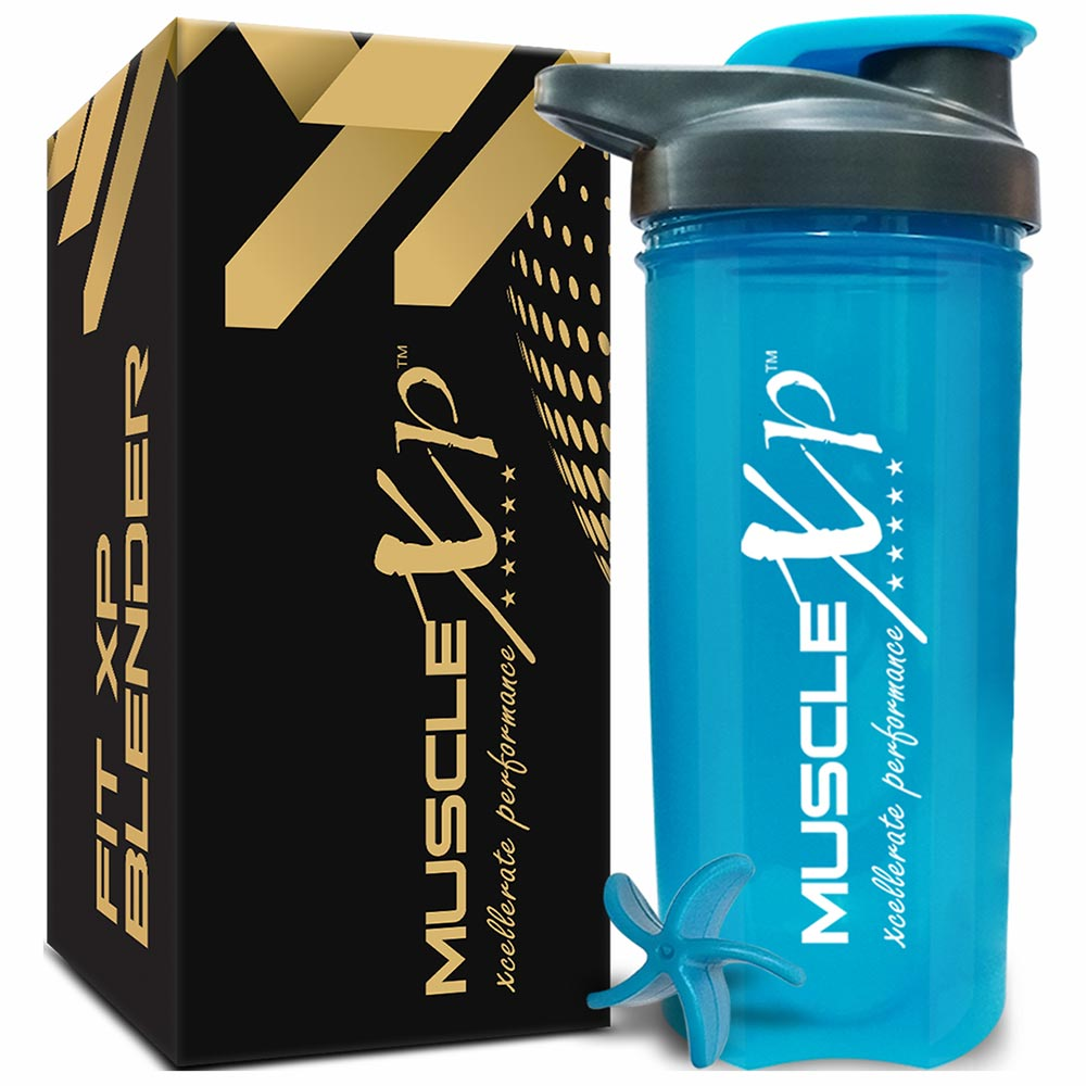 1 - MuscleXP Fit XP Blender Gym Shaker,  Blue  700 ml
