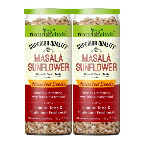NourishVitals Masala Sunflower Roasted Seeds - Pack of 2 Unflavoured 0.150 kg
