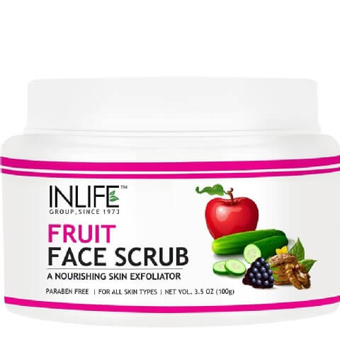 INLIFE Face Scrub,  100 g  Natural Fruit