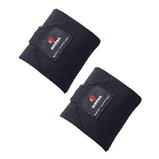 Omtex Wrist Support Pack of 2 Black Free Size