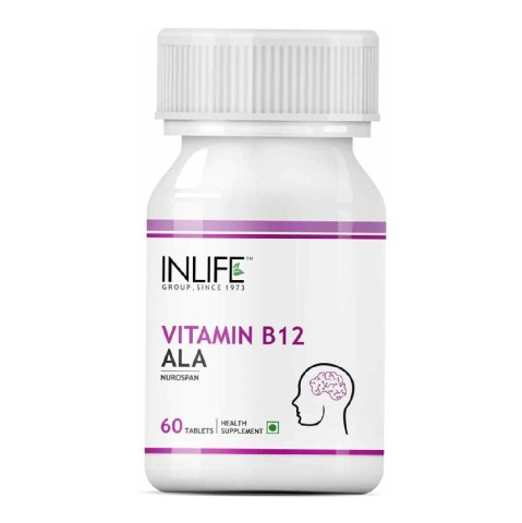 INLIFE Vitamin B12 + ALA,  Unflavoured  60 tablet(s)