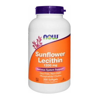Now Sunflower Lecithin (1200 mg),  200 softgels