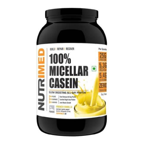 Nutrimed 100% Micellar Casein,  2 lb  French Vanilla