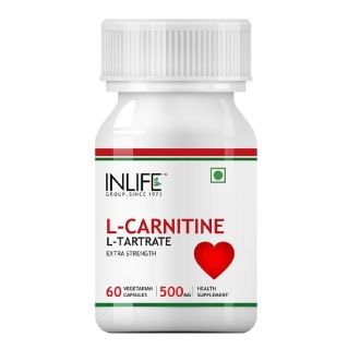 INLIFE L-Carnitine L-Tartrate 500 mg,  60 veggie capsule(s)  Unflavoured