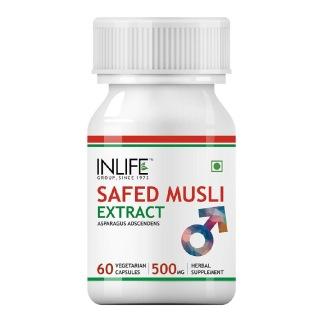 INLIFE Safed Musli Extract 500 mg,  60 veggie capsule(s)