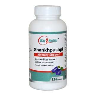 Way2Herbal Shankhpushpi,  120 capsules