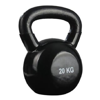 B Fit USA Vinyl Kettle Bell,  Black  20 kg
