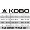 KOBO Back Support Weight Lifting Gym Belt (WTB-02),  Black  Large