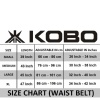 KOBO Back Support Weight Lifting Gym Belt (WTB-02),  Black  XL