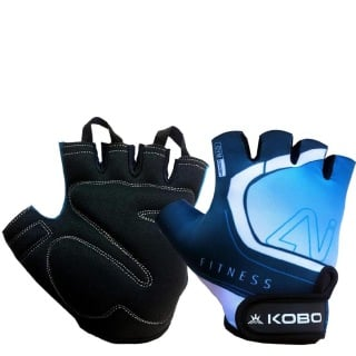 KOBO Gym Gloves (WTG-20),  Blue & Black  Small