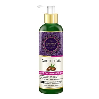 Morpheme Remedies Castor Oil,  100 ml  for Healthy Skin & Hair