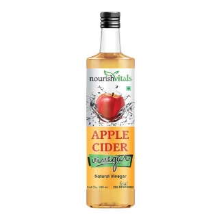 NourishVitals Apple Cider Natural Vinegar,  0.500 L  Unflavoured