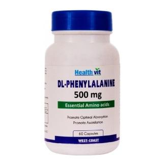 Healthvit DL-Phenylalanine (500 mg),  60 capsules