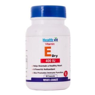 Healthvit Vitamin E Dry (400 IU),  60 capsules