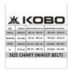 KOBO Back Support Weight Lifting Gym Belt (WTB-03),  Black  Xtra Large