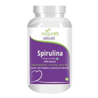 Natures Velvet Spirulina Powder,  0.100 kg