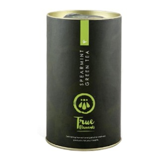 True Elements Spearmint Green Tea with Strainer,  100 g  Natural