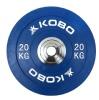 KOBO Bumper Plates 51mm,  Blue  20 kg