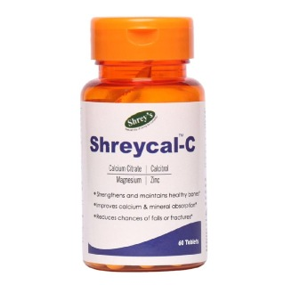 Shrey's Shreycal-C (Calcium),  Unflavoured  60 tablet(s)