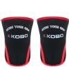 KOBO Weight Lifting Knee Wraps Bandages,  Black & Red  XL