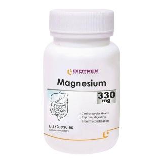 Biotrex Magnesium (330 mg),  Unflavoured  60 capsules