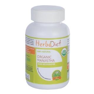 Herbadiet Organic Manjistha,  60 capsules