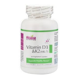 Zenith Nutrition Vitamin D3 & K2 (MK7),  60 capsules