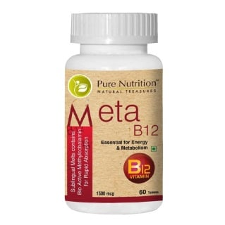 Pure Nutrition Meta B12,  Unflavoured  60 tablet(s)