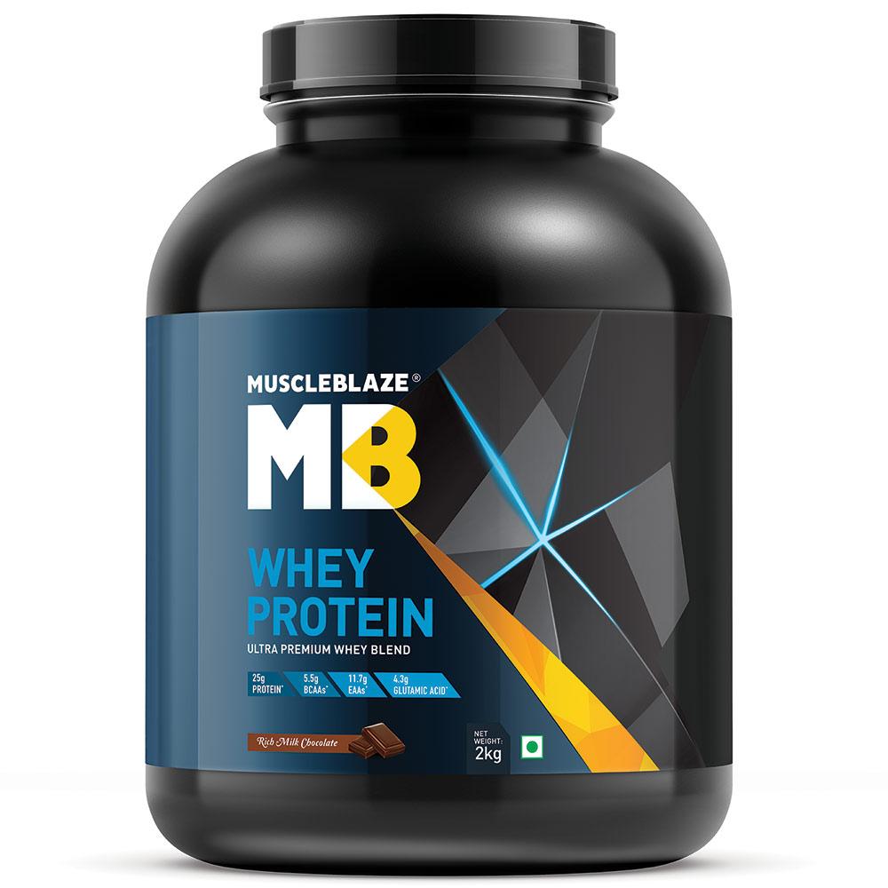 Muscleblaze 100 Whey Protein 44 Lb 2 Kg Rich Milk Chocolate Isolate 90 Wpi 500gr