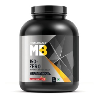 MuscleBlaze Iso-Zero,  4.4 lb  Zero Carb Strawberry