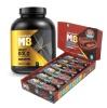 MuscleBlaze Whey Gold Protein & MuscleBlaze Protein Bar 22g 12 Piece Protein Combo