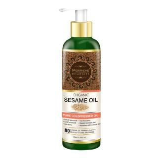 Morpheme Remedies Organic Sesame Oil,  200 ml  for All Hair & Skin Types