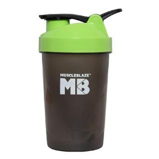 MuscleBlaze Fighter Shaker,  Green  400 ml