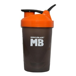MuscleBlaze Fighter Shaker,  Orange  400 ml